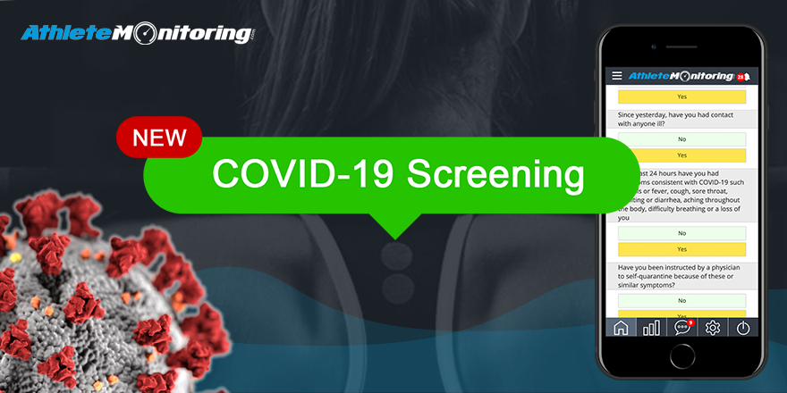AthleteMonitoring introduces COVID-19 screening tool