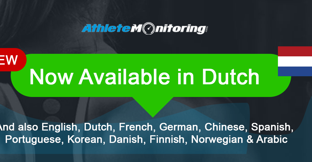 AthleteMonitoring is now available in Dutch