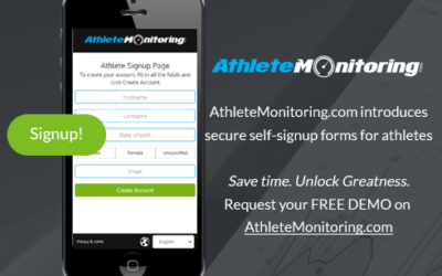 AthleteMonitoring introduces self-signup forms for athletes