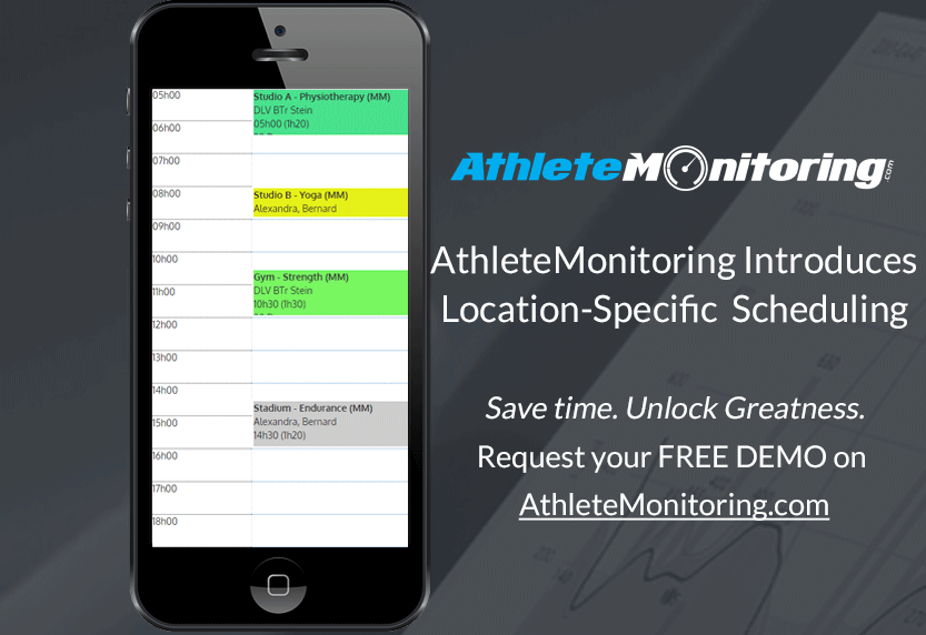 AthleteMonitoring introduces location scheduling