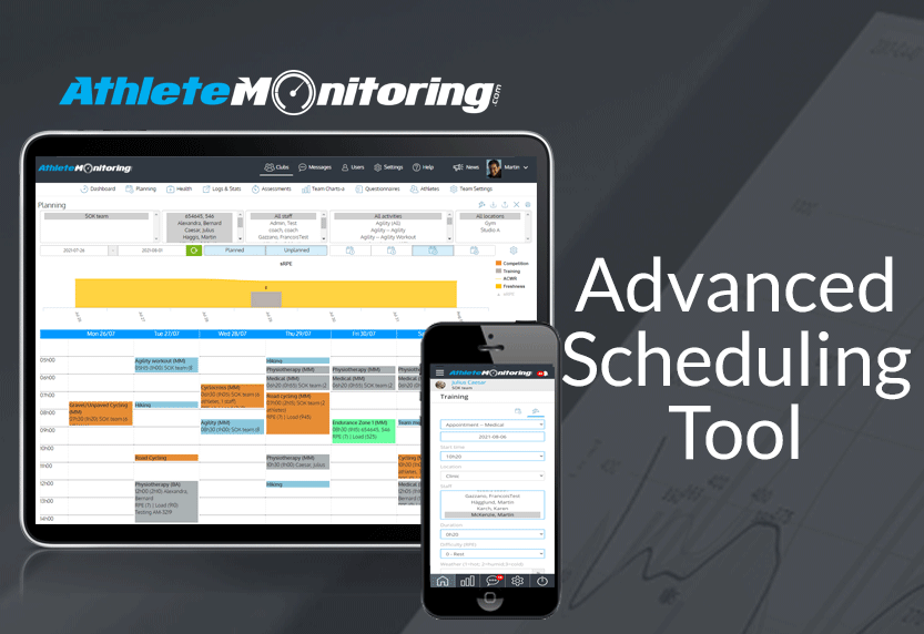 AthleteMonitoring Launches Advanced Scheduling Tool