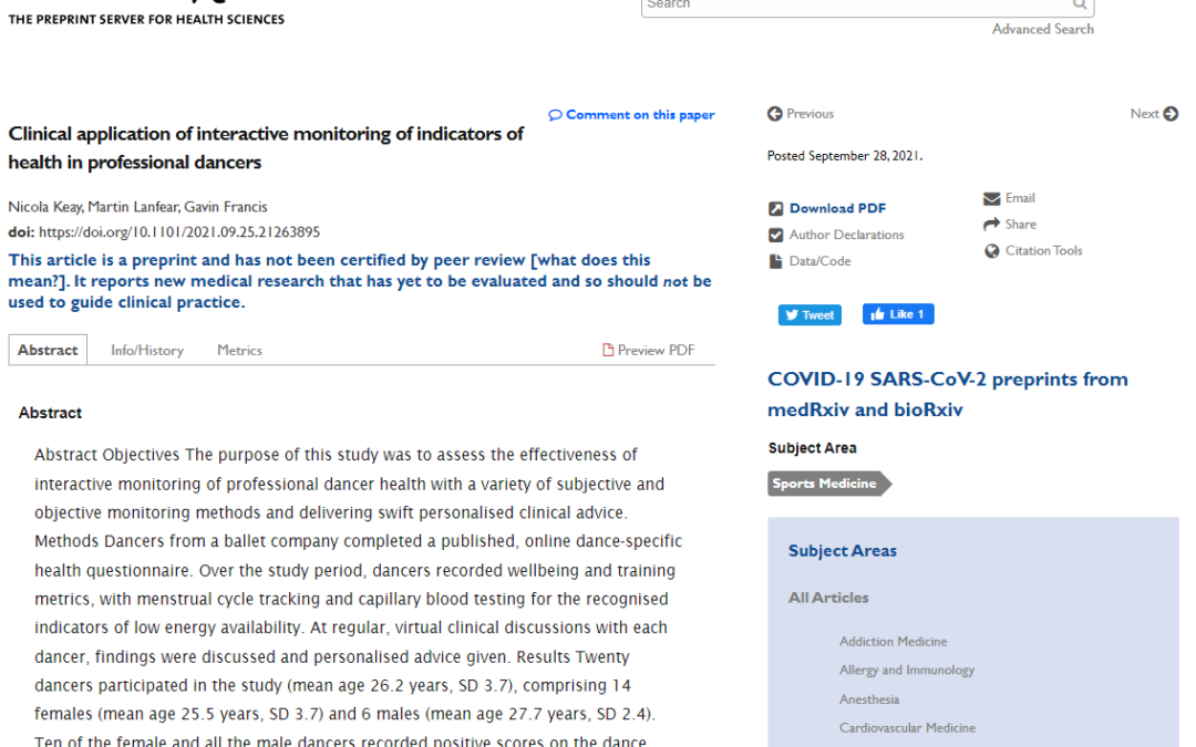 Another great scientific paper published with the assistance of AthleteMonitoring.com